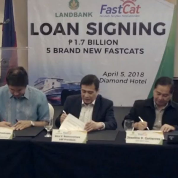 LANDBANK and FASTCAT CONTRACT SIGNING